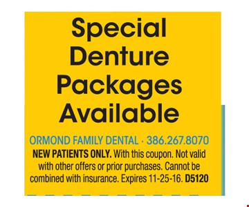 Special denture packages available