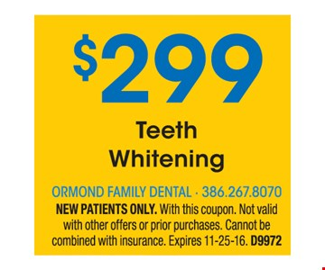 $299 teeth whitening