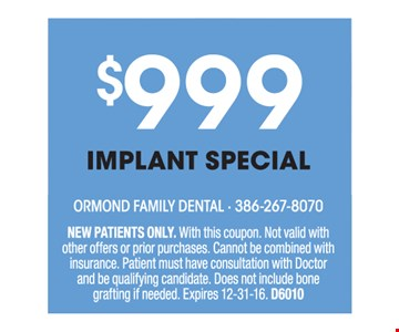 $999 Implant Special