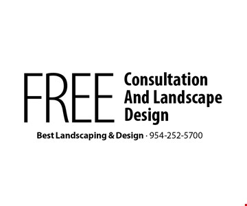 FREE Consultation And Landscape Design.