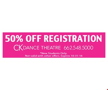 50% off registraion