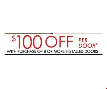 $100 off per door