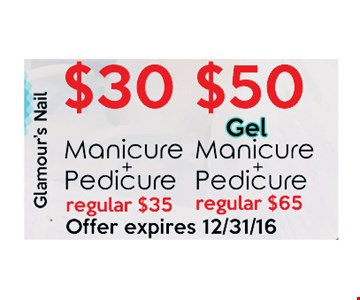 $30 manicure and pedicure