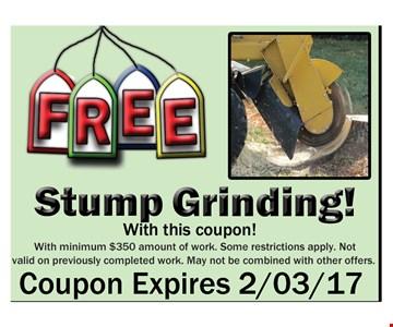Free Stump Grinding