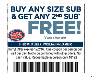 Free any size sub