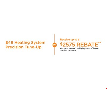 $49 heating system precision tune-up