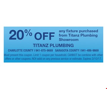 20% off any fixture.