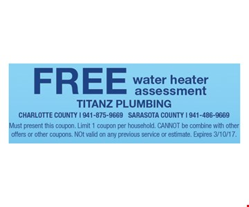 Free water heater assessment.