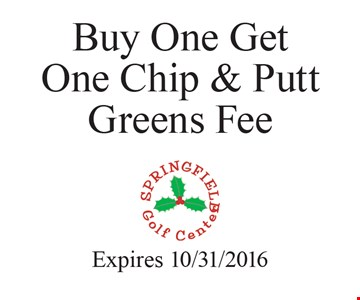 Buy one get one chip & putt greens fee