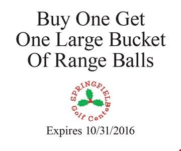 Buy one get one large bucket of range balls