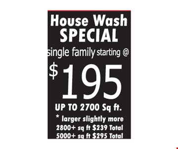 House Watch Special starting at $195