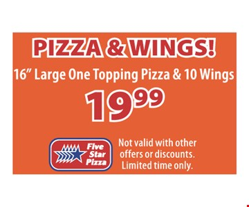 Pizza & Wings $19.99