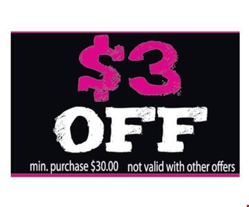 $3 Off