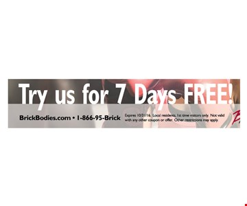 Try Us For 7 Days FREE