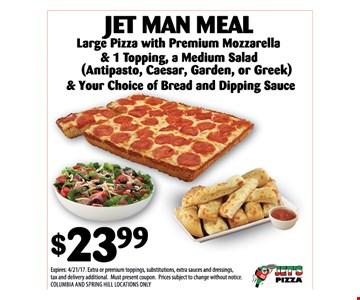 Jet Man Meal $23.99