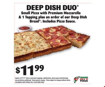 DEEP DISH DUO $11.99