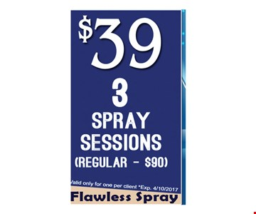 $39 3 Spray Sessions