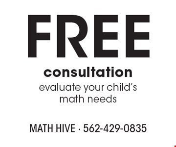 Free consultation. Evaluate your child's math needs.