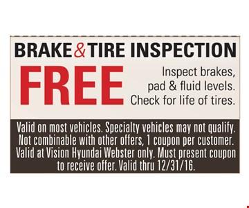 Free brake & tire inspection