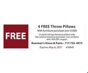Free 4 throw pillows