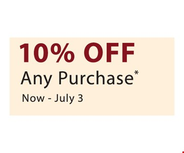 10% Off Any Purchase