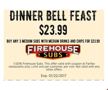 Dinner Bell Feast $23.99