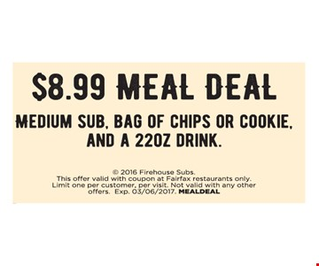 $8.99 meal deal