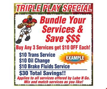 Bundle Your Services & Get $10 Off Each