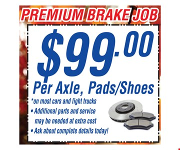 $99 Per Axel, Pads/Shoes