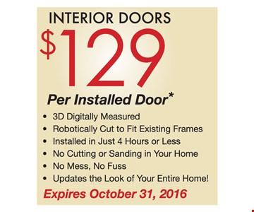 $129 per installed door