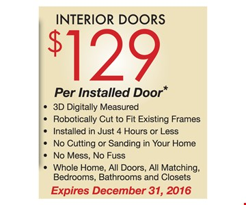 Interior doors $129