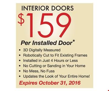$159 per installed door