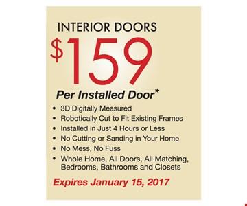 Interior doors $159