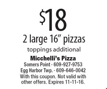 $18 2 large 16