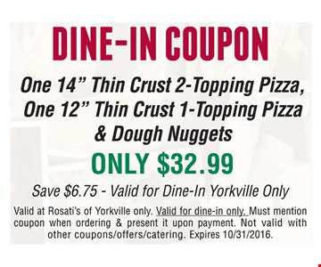 Dine-In coupon One 14