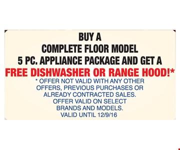 Free Dishwasher or Range Hood