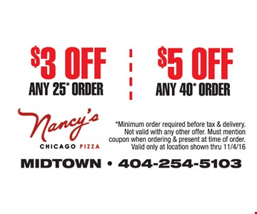 Up to $5 off your order.
