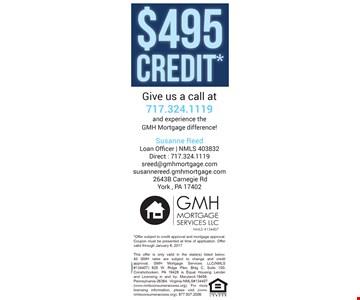 $495 credit