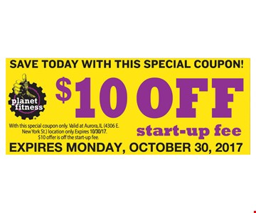 $10 Off Start-up Free
