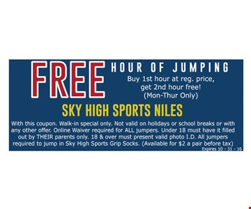 Free hour of jumping