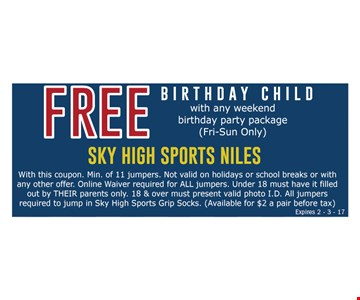 Free birthday child