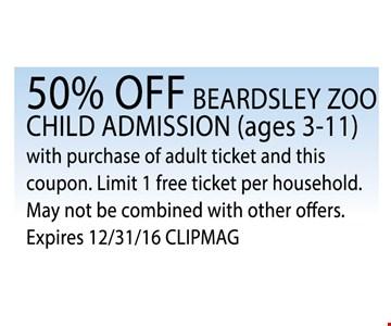 50% Off Beardsley Zoo