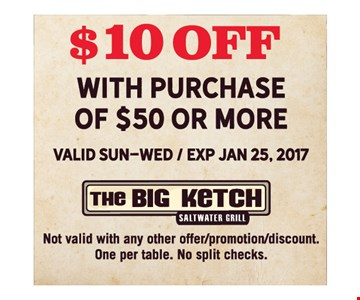 $10 off purchase