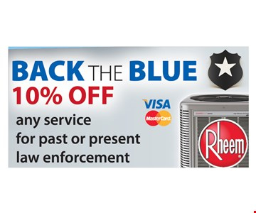 Back The Blue. 10% off any service for past or present law enforcement