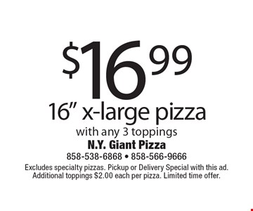 $16.99 16