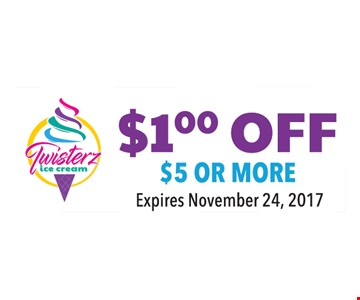 $1 off $5 or more