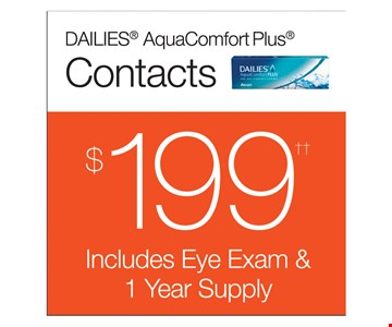 $199 Eye Exam & 1-Year Supply Of Contacts
