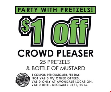 $1 off crowd pleaser.