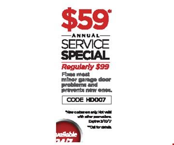 $59 annual service special