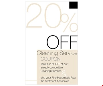 20% off cleaning service